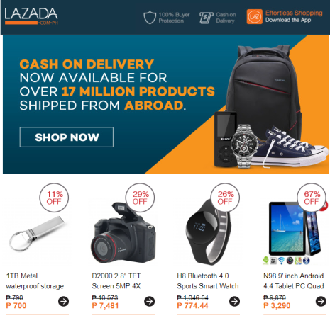 Sample Lazada Email Marketing Campaign